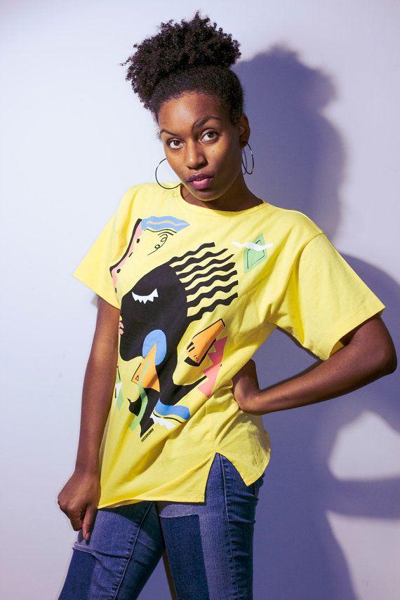 90s t shirt Vaporwave shirt 90s hip hop clothing by Thriftionary