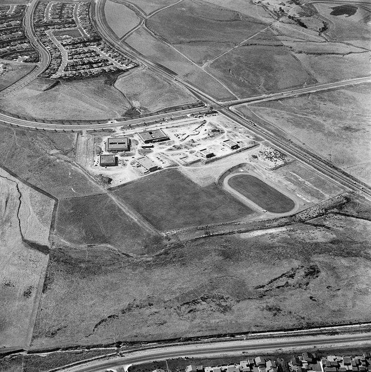 University High School, Irvine under construction in 1970
