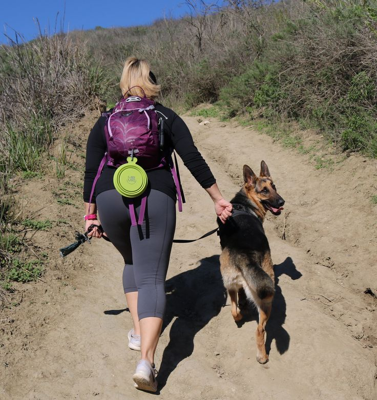 Girls & their German Shepherds! Beautiful day in Southern California for a hike with my dog!