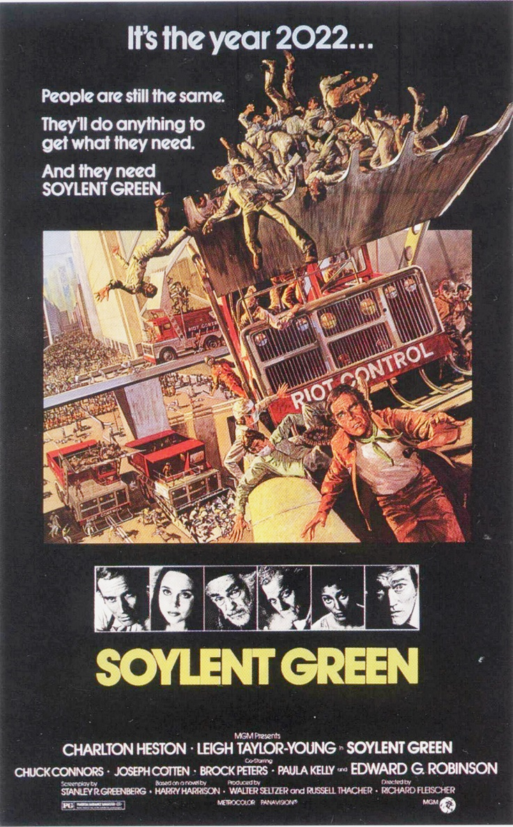Soylent Green (1973) yep, another sci-fi fave~ one of the weirdest movies ever and very underrated~ o_O
