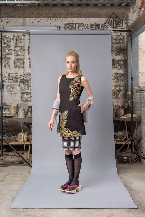 Vestido Sedum-#pintadoamano #soycroquis #soyunico #comerciojusto #tallercroquismodailustrada