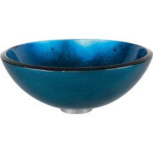 """View the Kraus GV-204-SO 16-1/2"""" Irruption Blue Glass Vessel Bathroom Sink - Sink Only at FaucetDirect.com."""