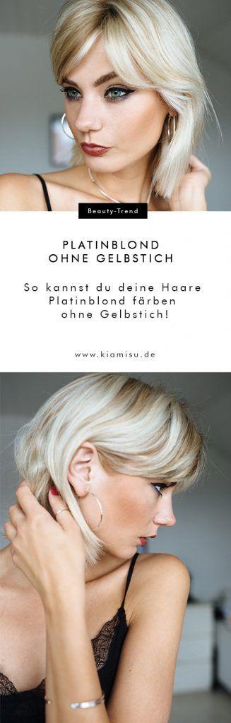 Strähnchen, Bob & Pflege: Haare Platinblond färben ohne Gelbstich!