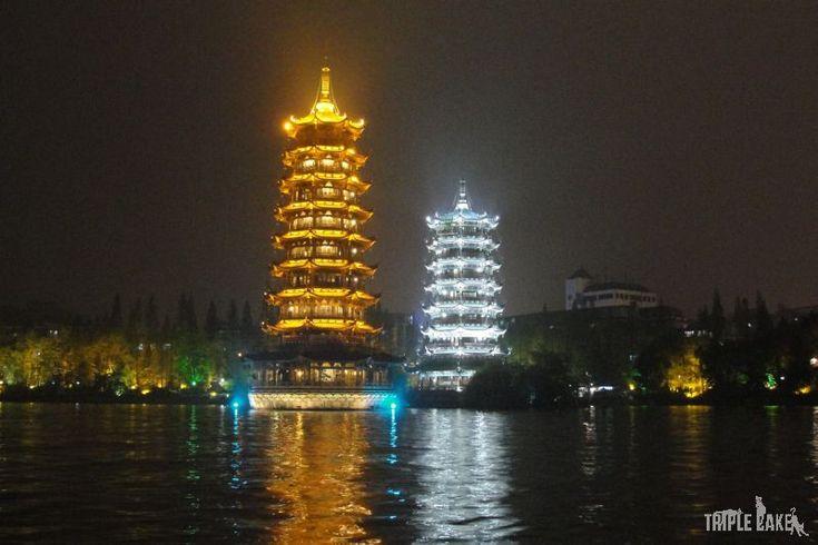 Twin Pagodas, Guilin  #China #Guilin