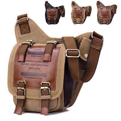Винтажный мужской дорожный туризм холст кожаная почтальонская сумка bagshoulder военные
