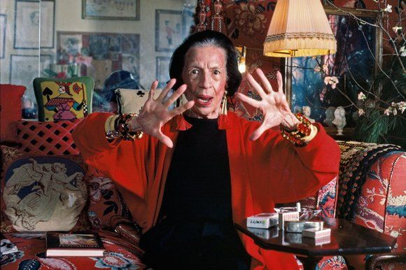 'I adore artifice': Diana Vreeland in her New York apartment, 1985