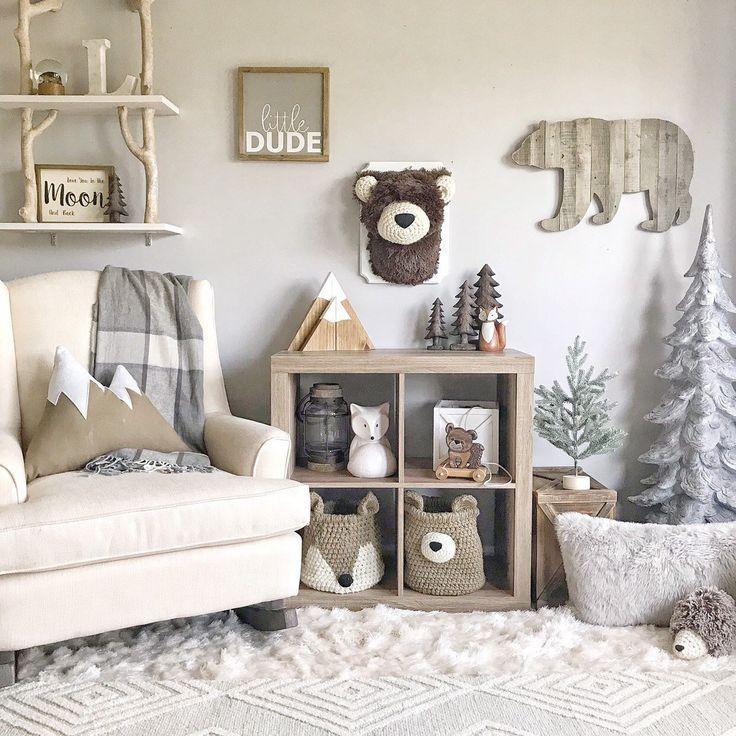 Plush bear head / Taxidermy imitation / Forest decor / Boy room / Plush bear