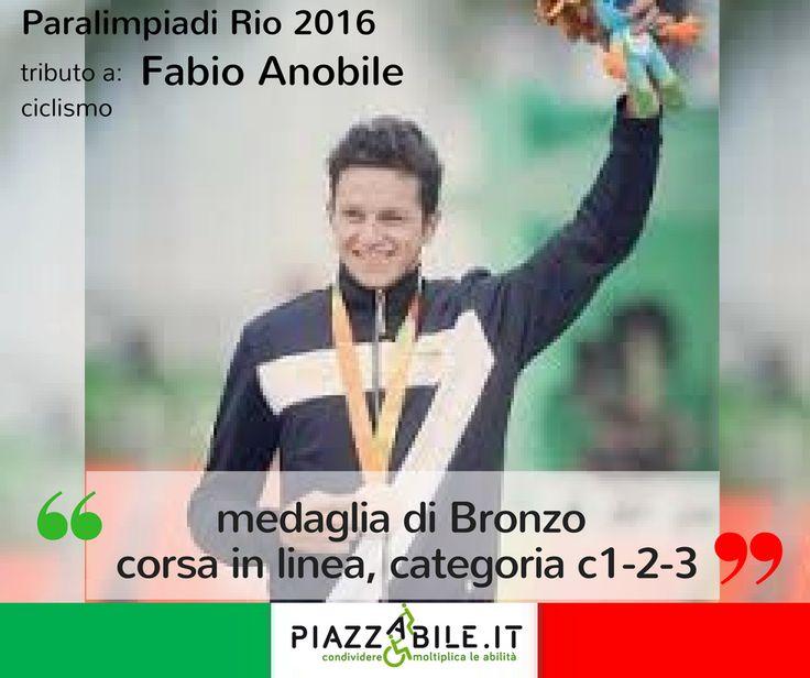 Fabio Anobile atleta italia medaglia di  BRONZO ciclismo su strada paralimpiadi Rio 2016  piazzabile.it.