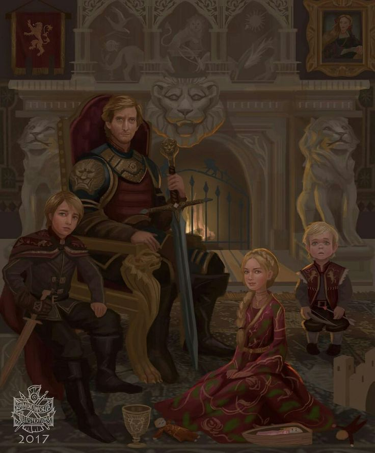 I like how cersei has three dolls that are suppose to be her children and how they died is how they are positioned