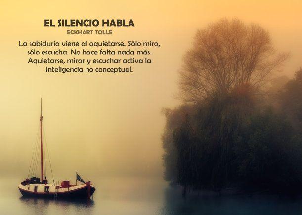 EL SILENCIO HABLA - La sabiduría viene al aquietarse. Sólo mira ...