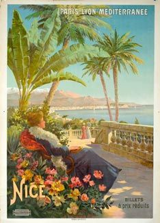 Nice, France poster circa 1900.   Can you feel the cool Mediterranean breezes?