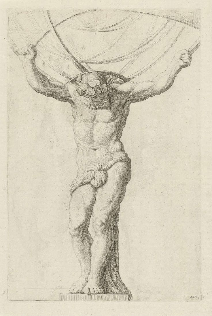 Atlas,Hubert Quellinus, Artus Quellinus, 1655/1668 / Rijksmuseum