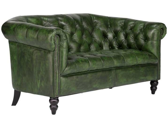 Massivum Sofa Aus Echtleder Massiv Chesterfield Derry Grun