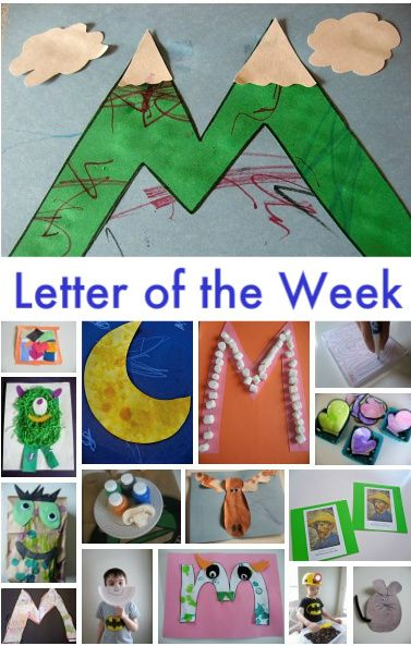 Letter of the week ideas-LOVE the M.