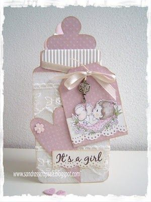 love this baby card, you can find the pattern in 'free printables'