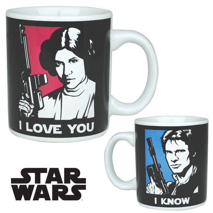 Mug Han Solo et Léia Star Wars