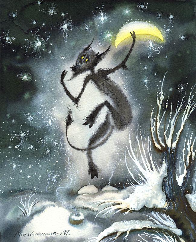 Картинки ночь перед рождеством, яблочный
