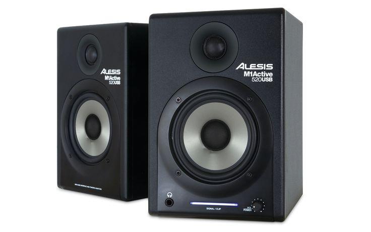 M1Active 520 USB Nearfield Studio Monitor dengan USB Audio I/O    M1 Active 520 merupakan generasi ketiga dari seri Alesis M1 Active yang telah diakui. M1 Active 520 menawarkan efek bass yang luar biasa, midrange definition dan respon frekuensi flat dari driver berpresisi tinggi dan crossover profesional.
