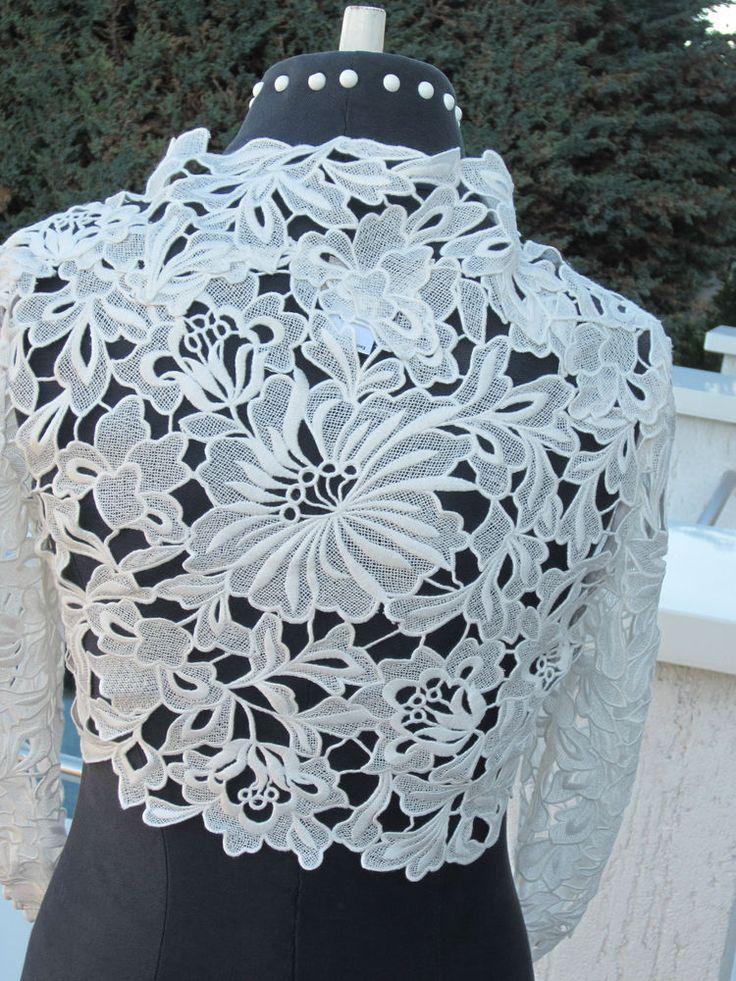 spitzen bolero jäckchen bridal lace jacket neu super spitzen bolero ...