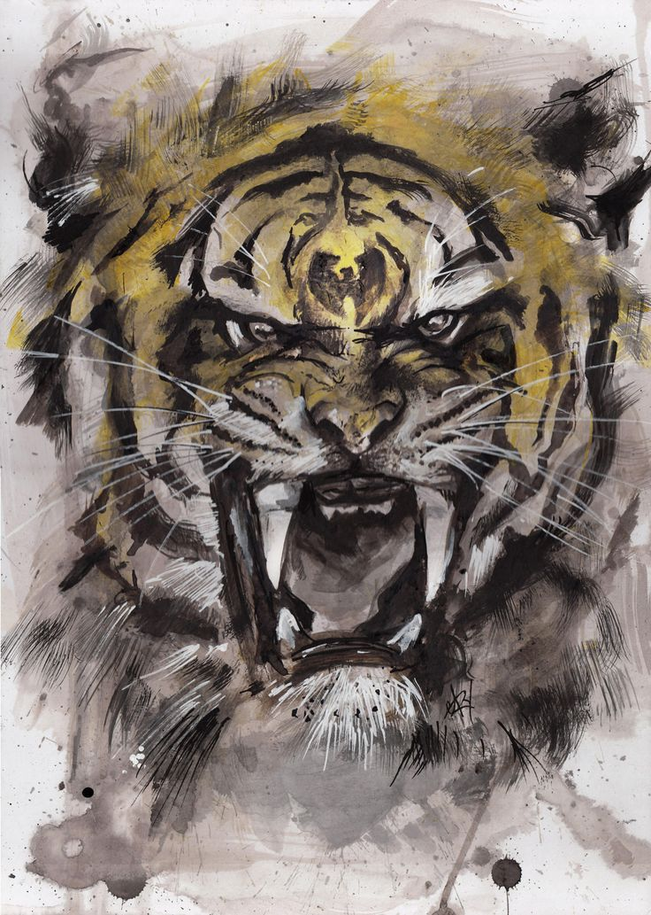 Wu-Tang Tiger Style art print by GaryAlfordArt on Etsy