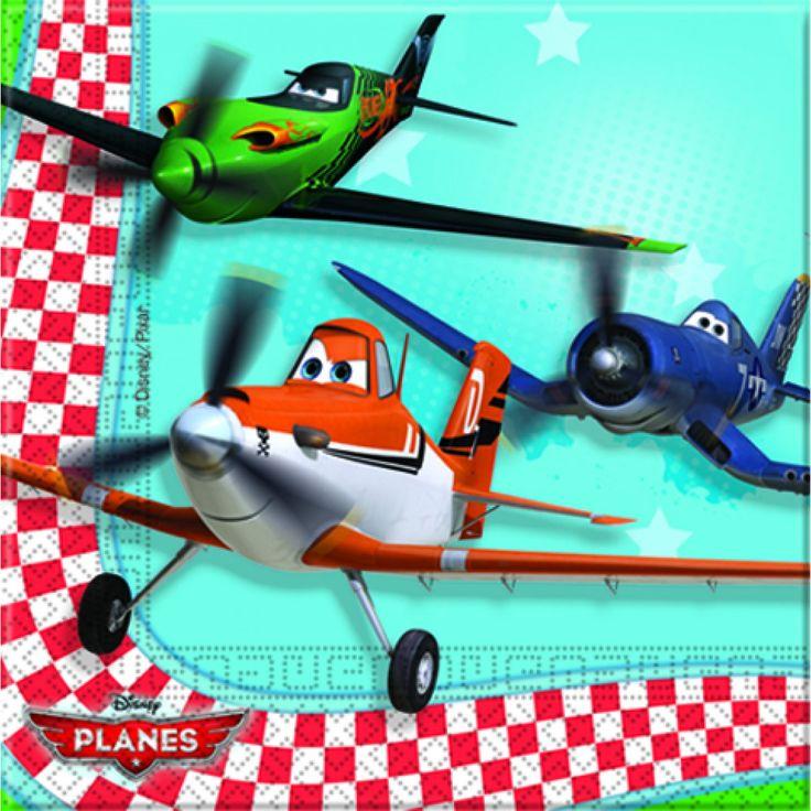 Planes-servietter 33x33 cm