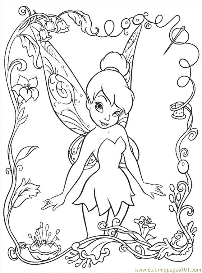 free disney printables | Coloring Pages Disney Fairy6 (Cartoons ...
