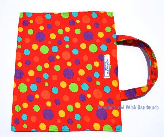 Red Spot 'Wick' Art Caddy fabric art caddy by MayboleandWick