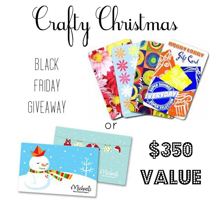 Stop by and enter for your chance to win a $350 gift card to Michaels or Hobby Lobby!!  #christmas #blackfriday #giveaway