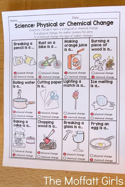 Physical or Chemical Change- This is a great practice sheet that could be paired with plenty of science experiments!