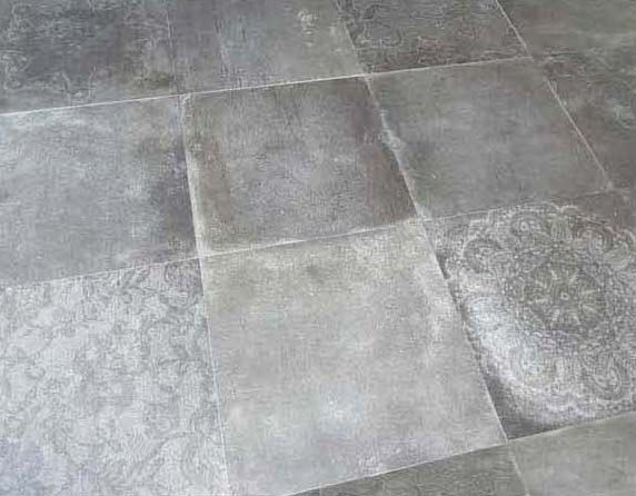 Cement Fossil Inspired Porcelain Tiles | Edge Tile + Stone