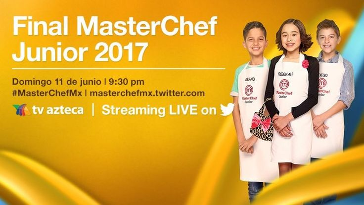 Final de MasterChef Junior 2017 en vivo por Twitter ¡Entérate! - https://webadictos.com/2017/06/10/final-masterchef-junior-2017-twitter/?utm_source=PN&utm_medium=Pinterest&utm_campaign=PN%2Bposts