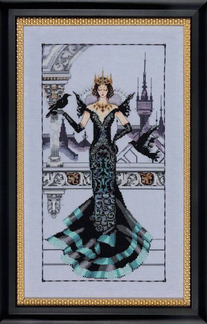THE RAVEN QUEEN Mirabilia Counted Cross Stitch by TheAngelsNook