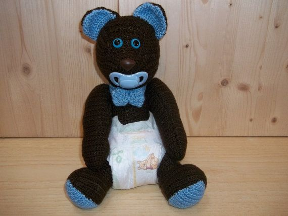 Crochet Baby Teddy Bear.  Handmade Crochet Amigurumi Toy Doll - Bear Crochet - Amigurumi Bear. Project by me, Rossella Usai.