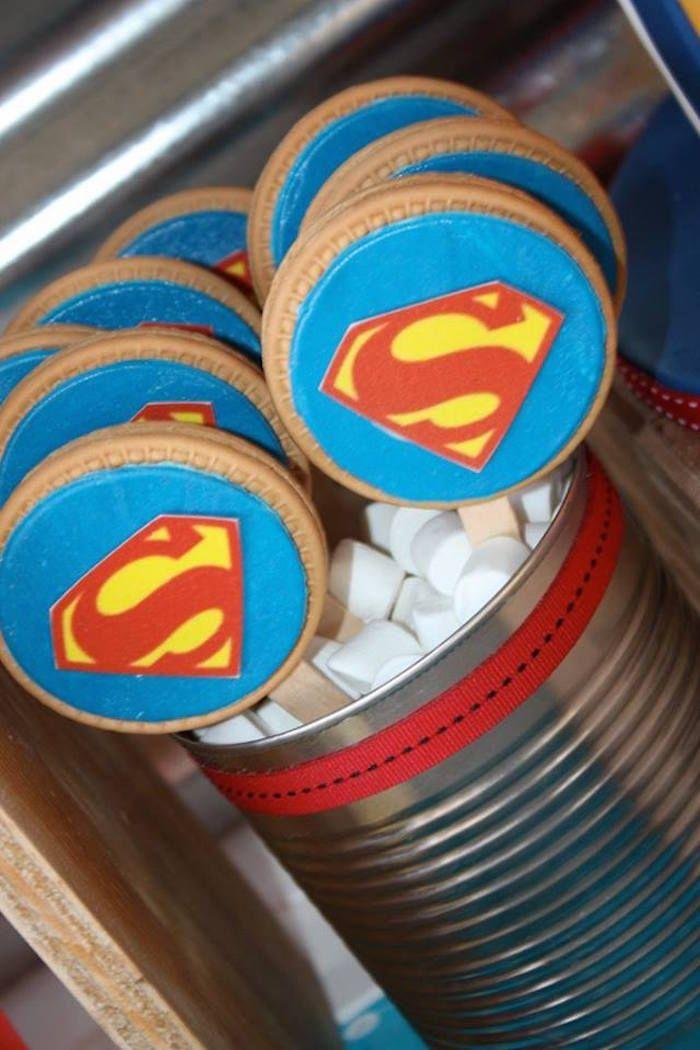Superman traktatie koekjes