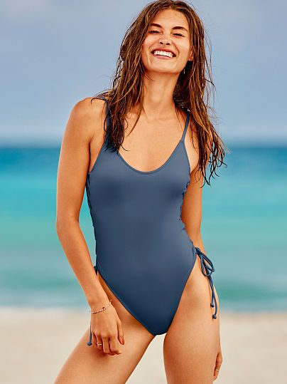 Lace-Up Side One-Piece