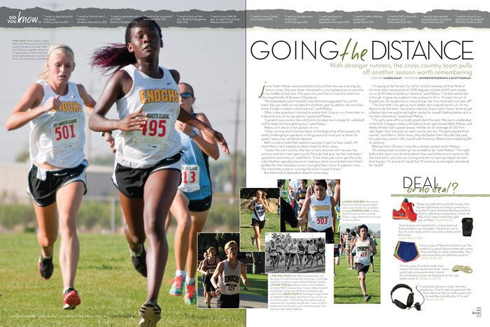 Great Yearbook Page Layout Example from James C. Enochs HS, Modesto, CA.