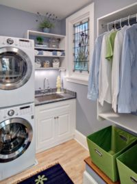 Effective Ideas to Combine Small Kitchen Design with Laundry