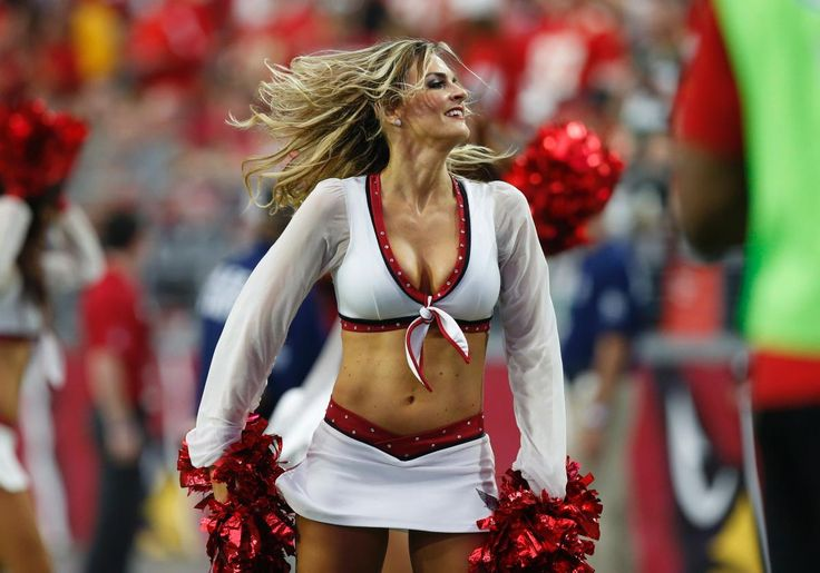 An Arizona Cardinals cheerleader performs during Sunday's win over the Chiefs.