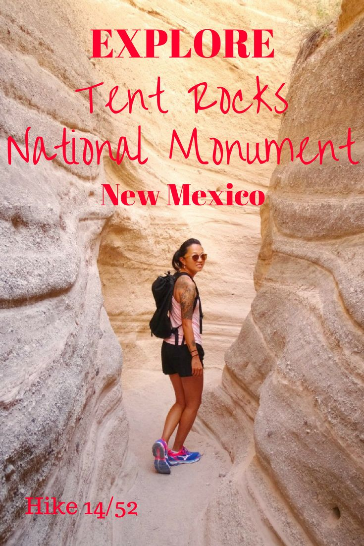 Hike in New Mexico. Hike near Santa Fe. Hike Tent Rocks National Monument. Read about our time there and another national monument!