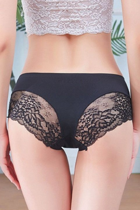 a4006e18b Pretty Cute Undies Dark Gray Black Lace Cheeky Panty Undergarments Petit  Lingerie Intimates Love Outfit Under Clothes. For ladies