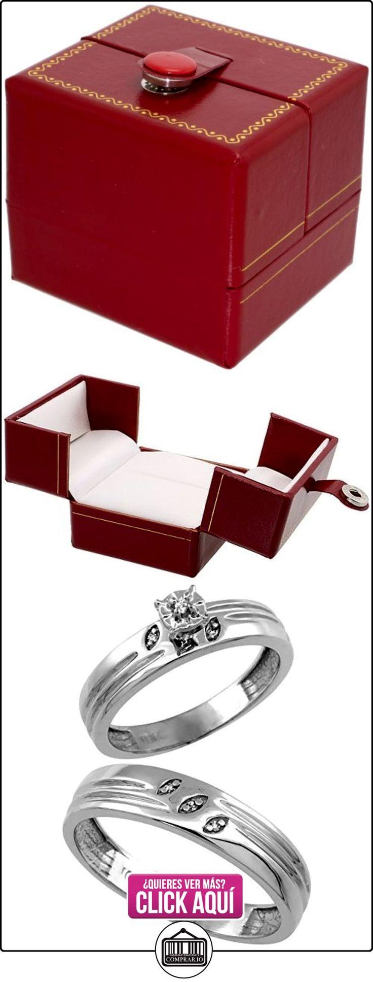 Revoni - Anillo de compromiso de oro blanco  ✿ Joyas para hombres especiales - lujo ✿ ▬► Ver oferta: http://comprar.io/goto/B005EGP2S0
