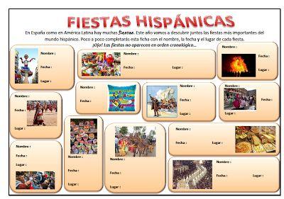 ¡Me encanta el español!: FIESTAS HISPANICAS