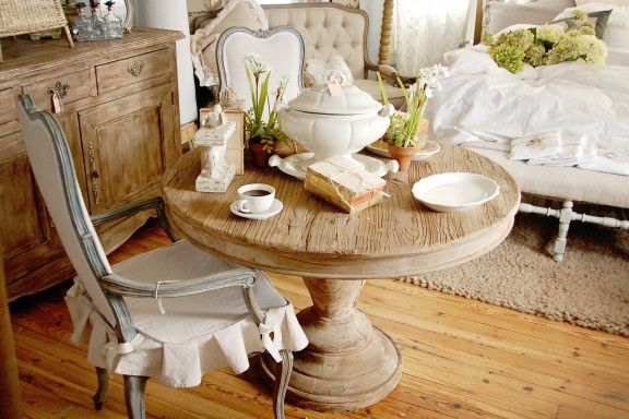 Great mix of painted and rustic