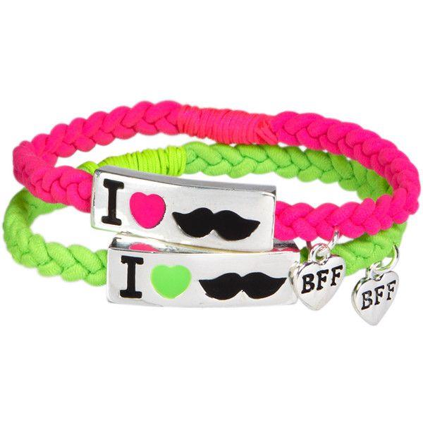 Bff Mustache Friendship Bracelets bracelets ($12) ❤ liked on Polyvore