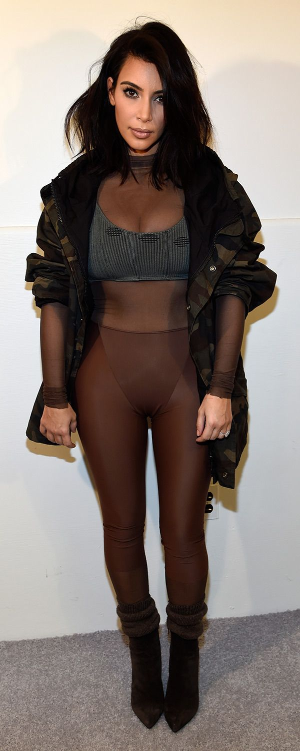 Kim Kardashian at the Kanye West x Adidas Originals Yeezy Season 1 show #NYFW #FashionWeek