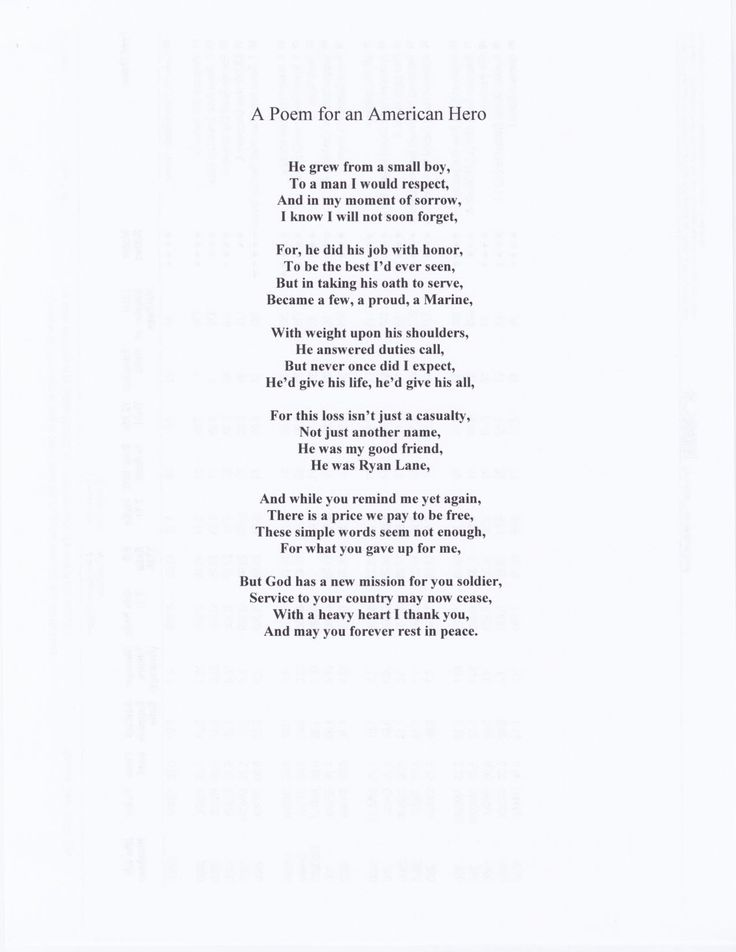 A Poem for an American Hero | Poems | Pinterest | As, Heroes and Poem