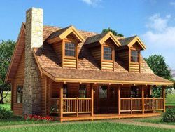 I want a log cabin house, don't have to be 2 story