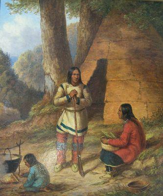 Indian Hunter and Family by Cornelius Krieghoff Cornélius Krieghoff Follow the biggest painting board on Pinterest: www.pinterest.com/atelierbeauvoir