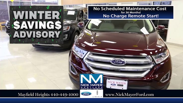 Lease a New Ford Edge Maple Heights OH at Nick Mayer Ford - Our Year-End...