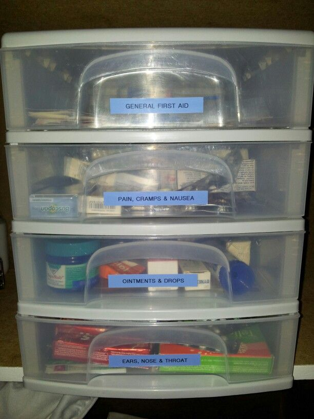 Just sorted all our meds into this organiser! Everything has it's place!